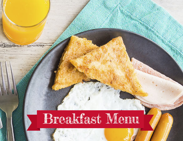 breakfast menu banner